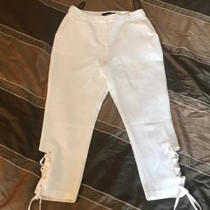 Brand new White trendy trousers
